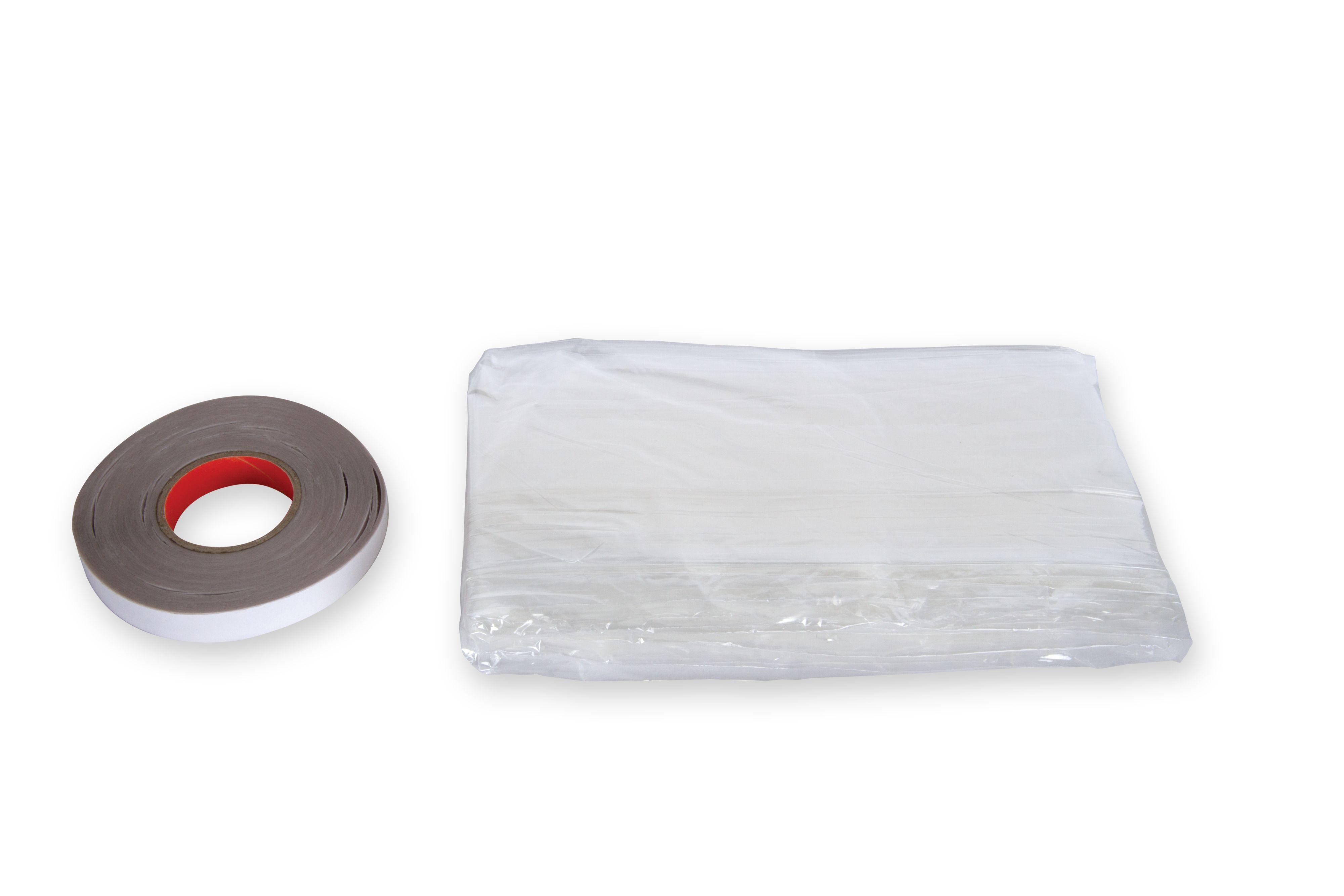 Bathroom Window Film B&Q stormguard pvc/ tape self adhesive secondary glazing film, (l)4.02