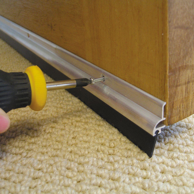 Stormguard Aluminium Rubber Door Seal L 838mm