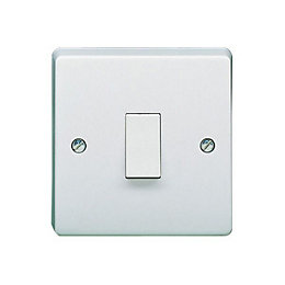 Crabtree 20A 1-Way Single White Gloss Control Switch