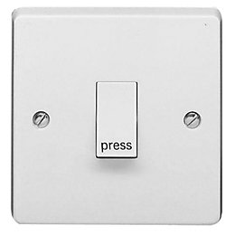 Crabtree 10A 2-Way Single White Gloss Switch