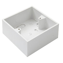 MK White Plastic Single Pattress Box
