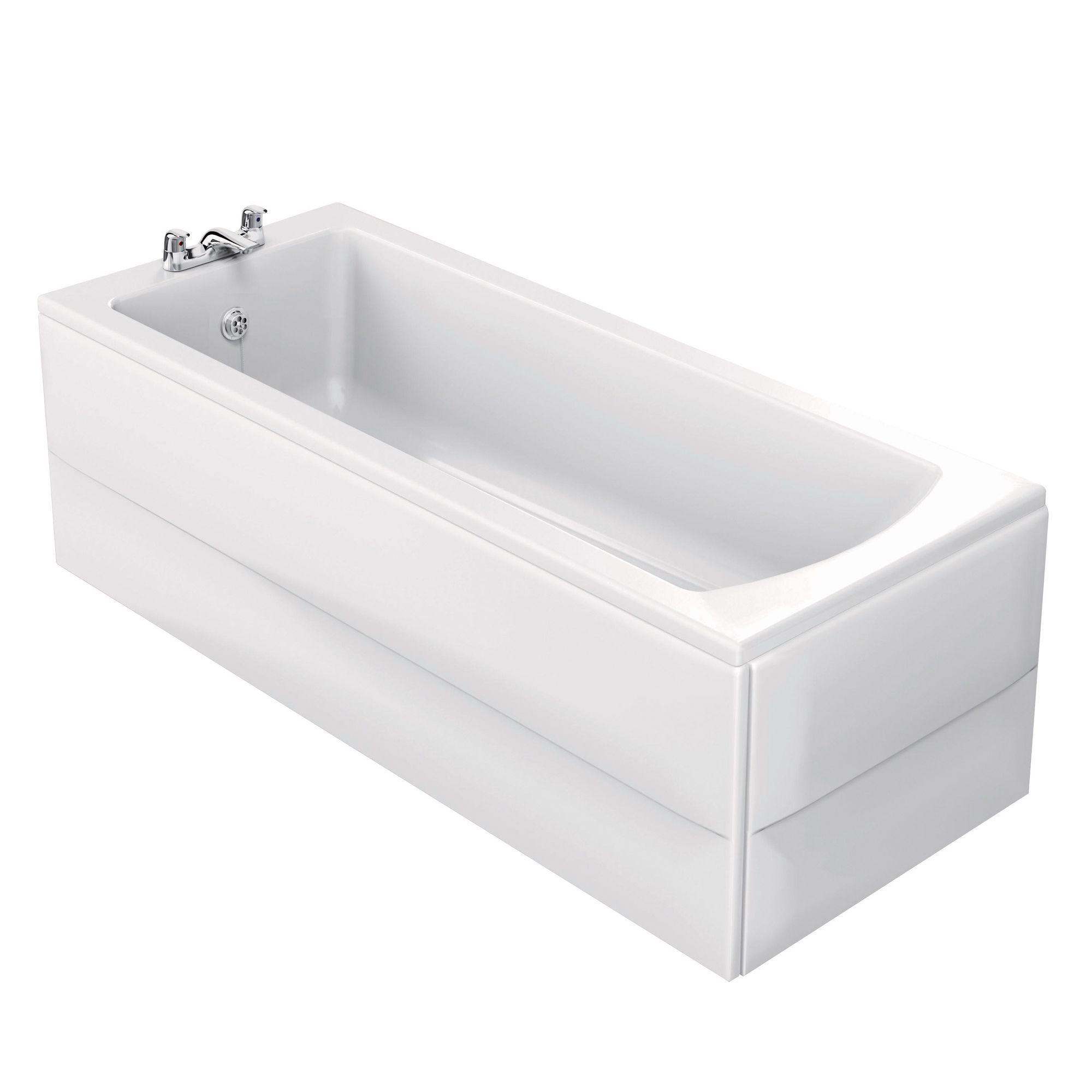ideal standard vue acrylic rectangular straight bath l 1695mm w ideal standard vue acrylic rectangular straight bath l 1695mm w 695mm departments diy at b q