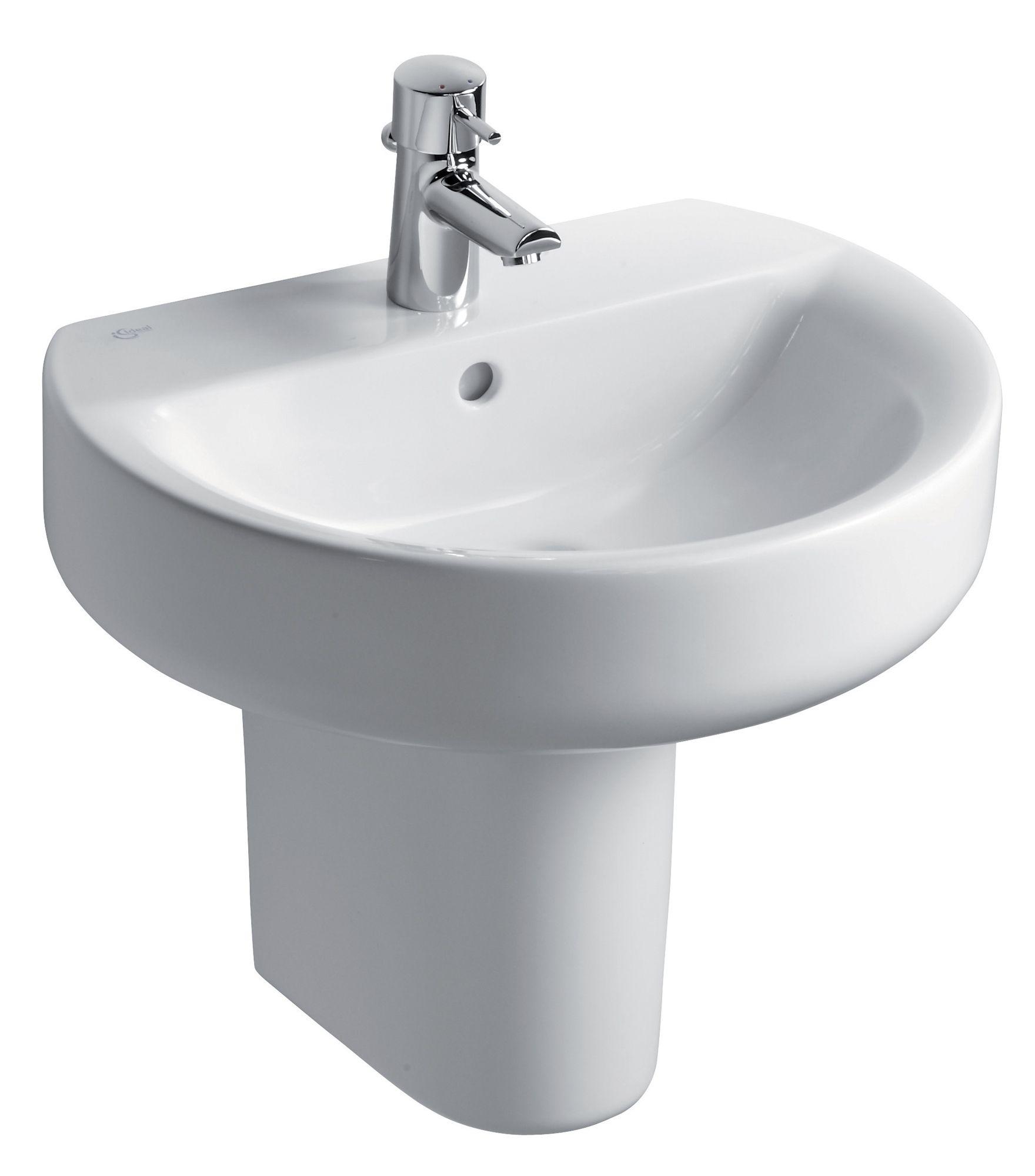 Bathroom Sinks B&Q Ireland ideal standard senses sphere semi pedestal basin | departments