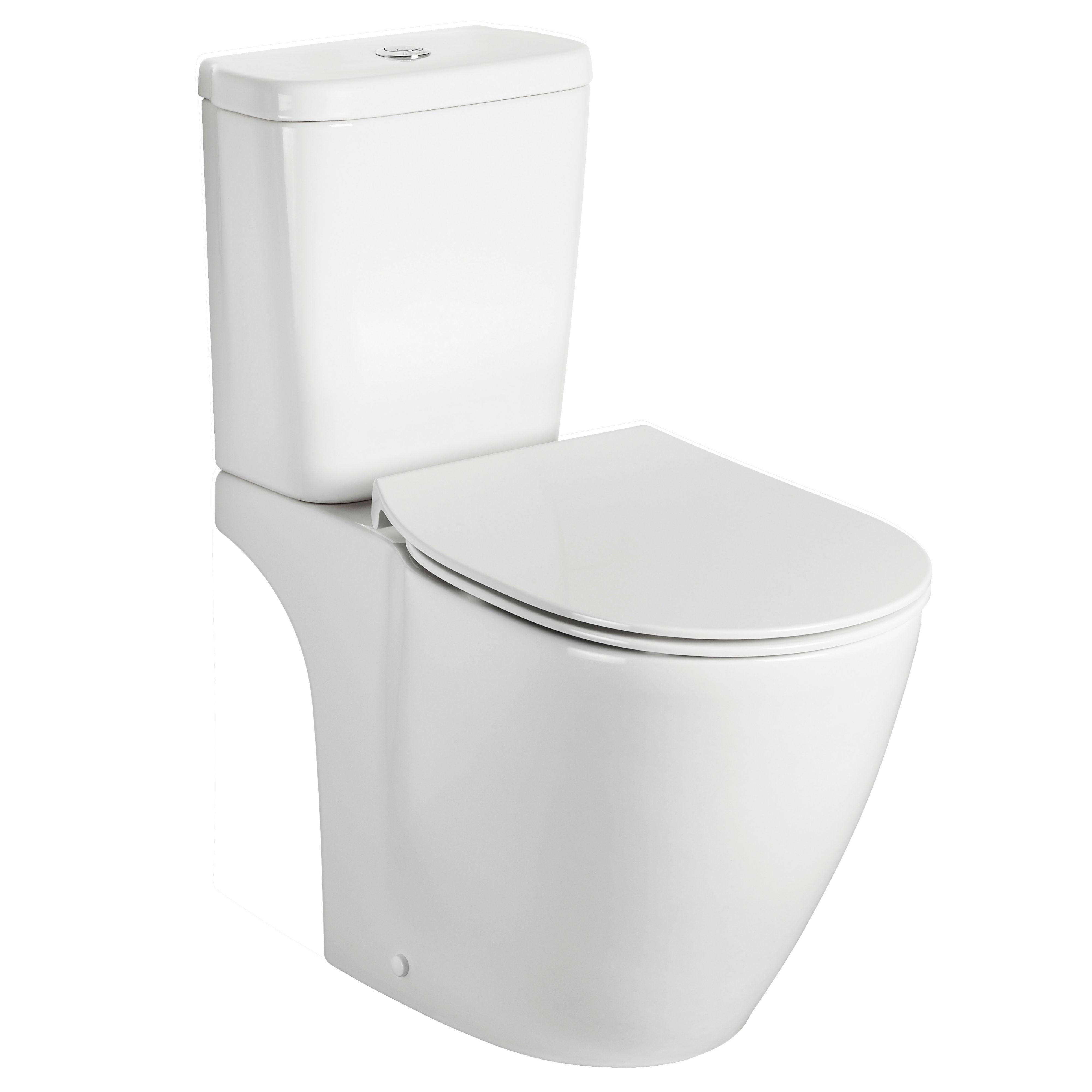 ideal standard imagine aquablade contemporary close coupled toilet with soft close seat. Black Bedroom Furniture Sets. Home Design Ideas