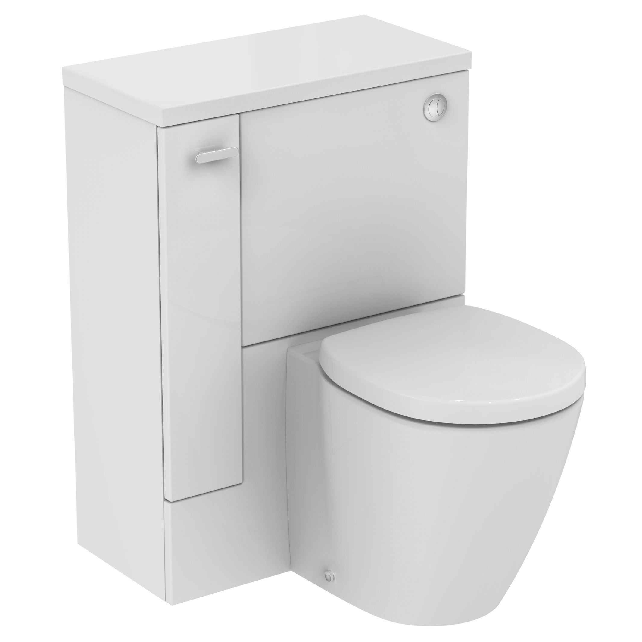 ideal standard imagine compact lh back to wall toilet unit wc set with soft close seat. Black Bedroom Furniture Sets. Home Design Ideas