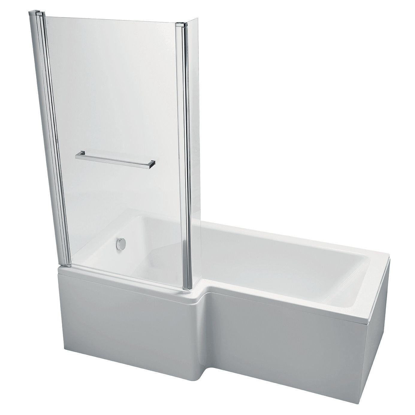 ideal standard imagine lh acrylic rectangular shower bath front ideal standard imagine lh acrylic rectangular shower bath front panel screen l 1695mm w 1695mm departments diy at b q