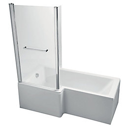 Ideal Standard Imagine LH Acrylic Rectangular Shower Bath,