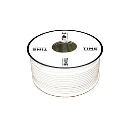 Time Coaxial Cable White 100m