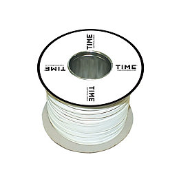 Time Core Bell Wire 1.5mm² White 100m