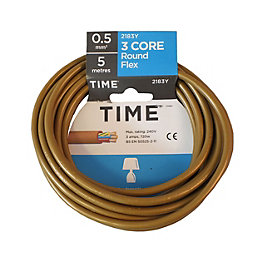 Time 3 Core Round Flexible Cable 0.5mm² 3183Y