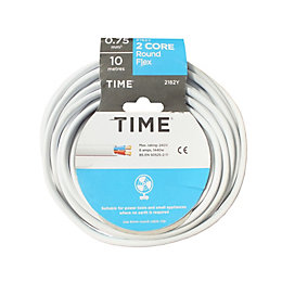 Time 2 Core Round Flexible Cable 0.75mm² 2182Y
