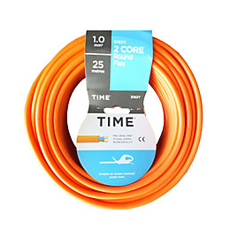 Time 2 Core Round Flexible Cable 1.0mm² 3182Y
