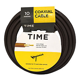 Time Coaxial Cable Brown 10m