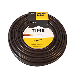 Time Coaxial Cable Brown 25m