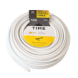 Time GT100 Digital Coaxial Cable White 25m