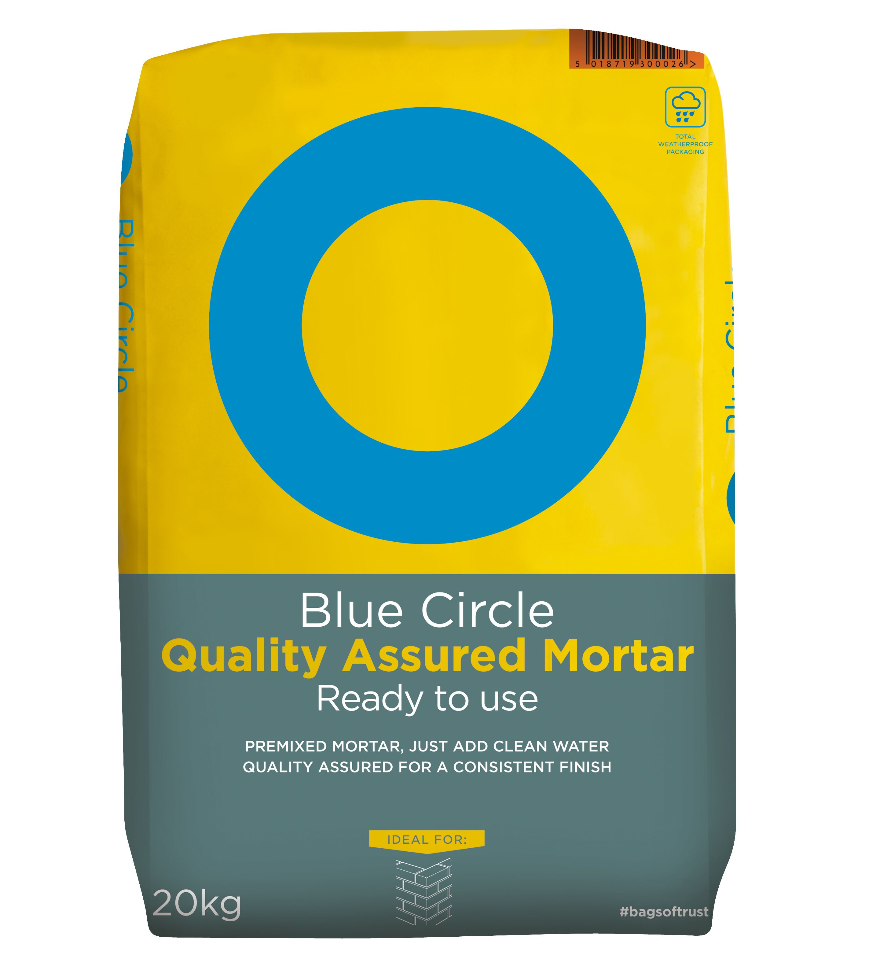 blue circle quality assured ready to use mortar 20kg bag
