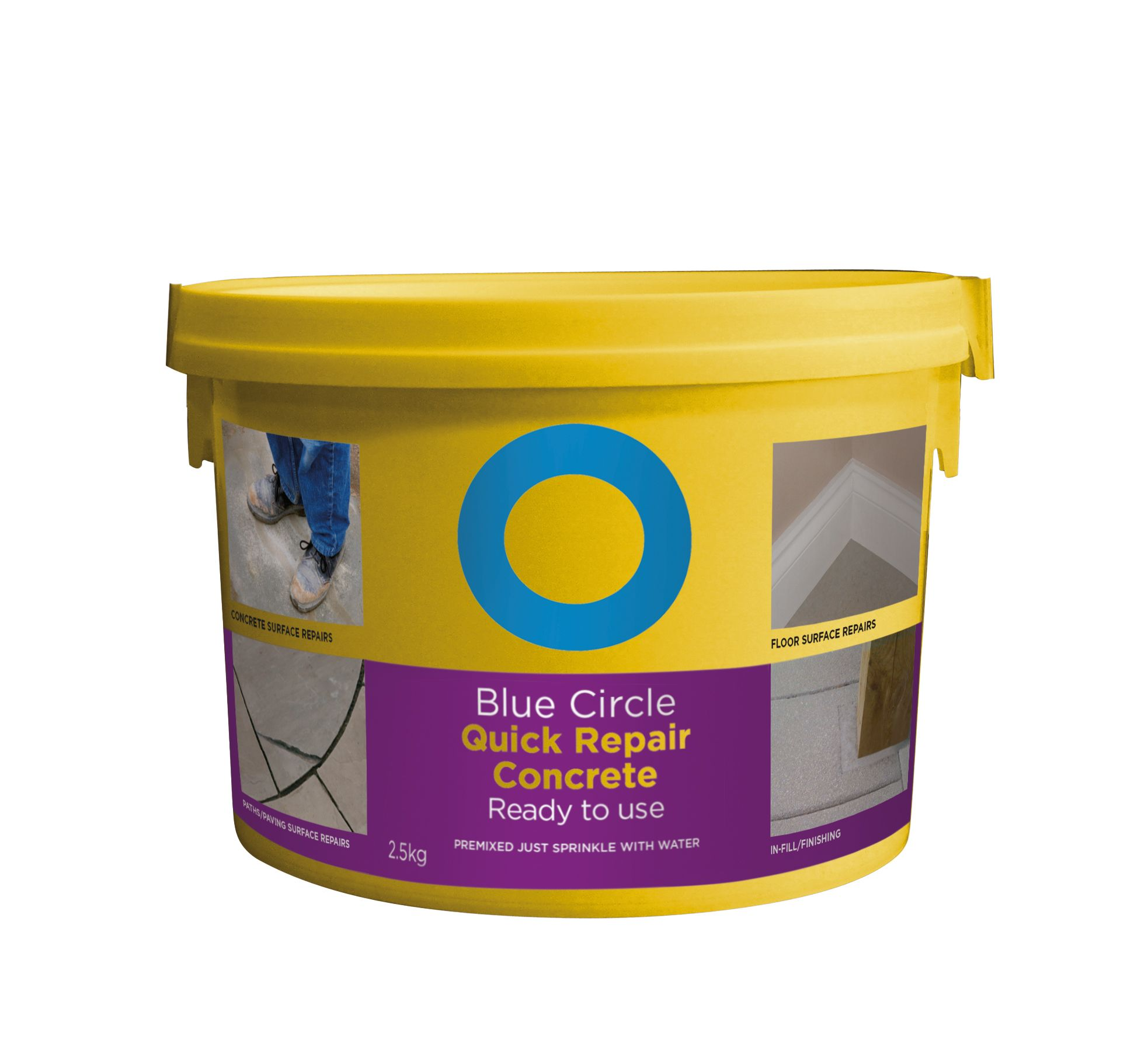 Blue Circle Quick Repair Ready to Use Concrete 25kg Tub