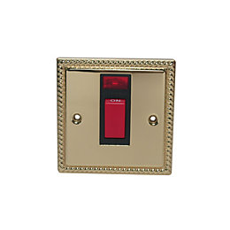 Volex 45A Double Pole Brass Effect Cooker Switch
