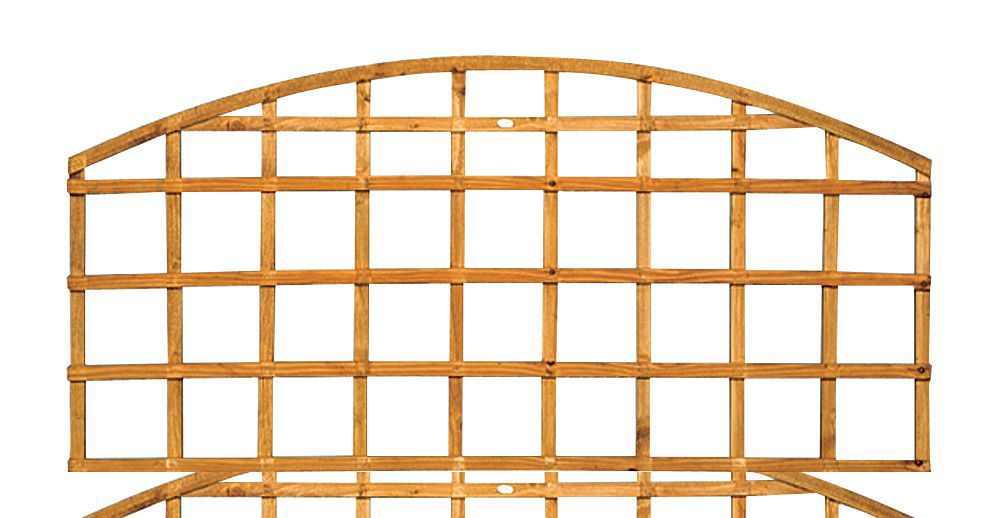 Traditional Timber Dome Trellis Panel (h)0.57m(w)1.83 M