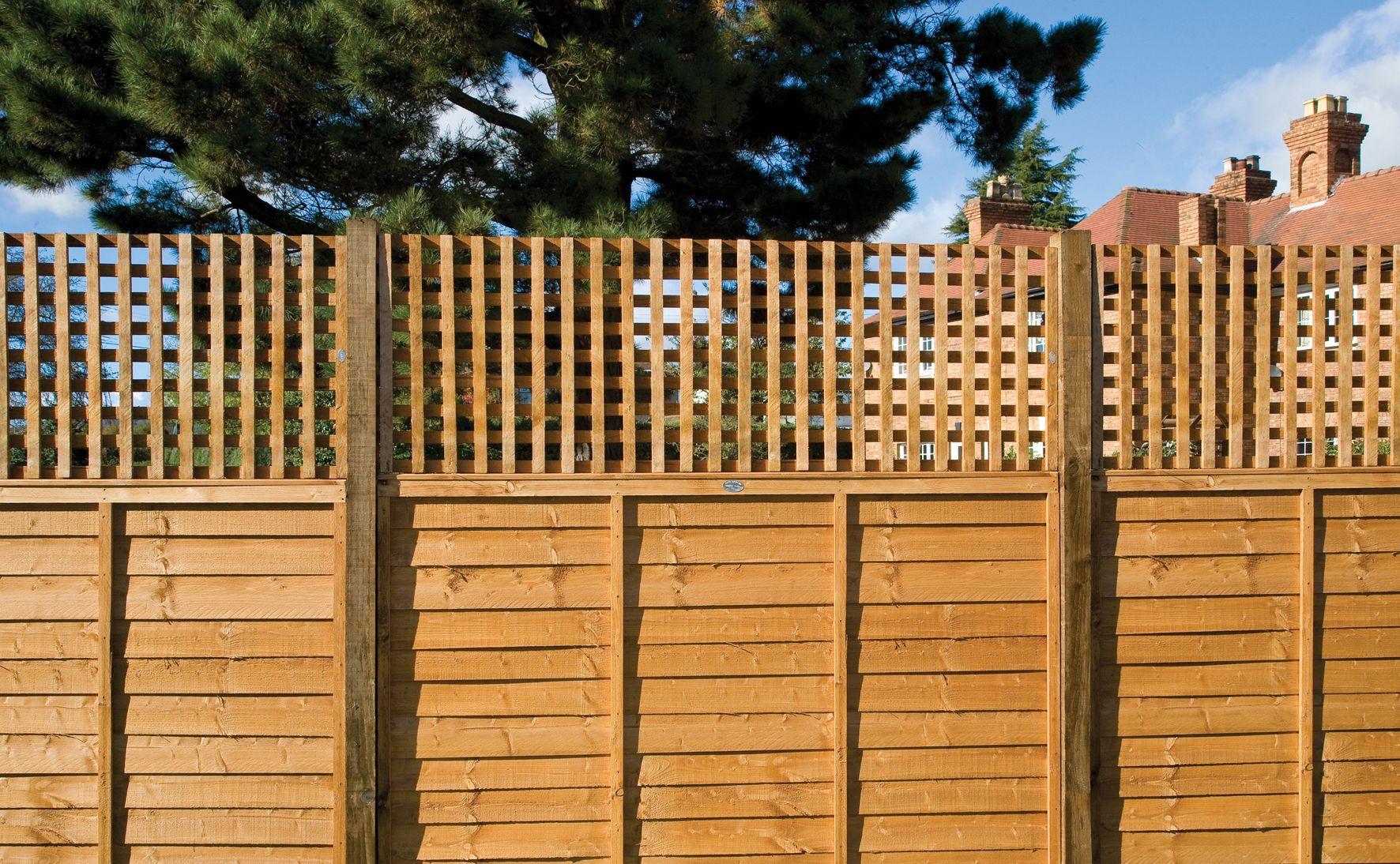 Timber Square Trellis Panel (h)0.63m(w)1.83 M