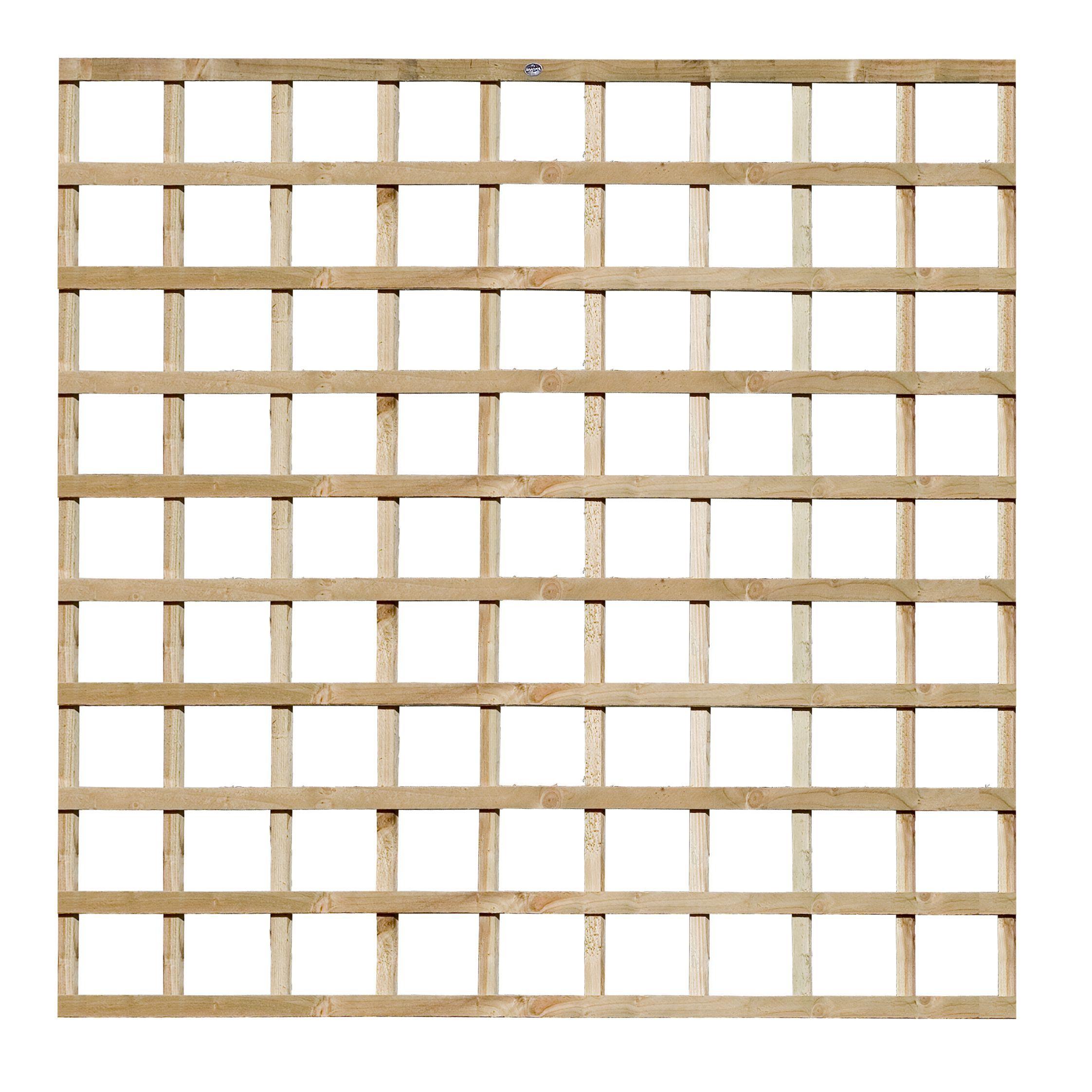 Traditional Timber Square Trellis Panel (h)1.83m(w)1.83 M