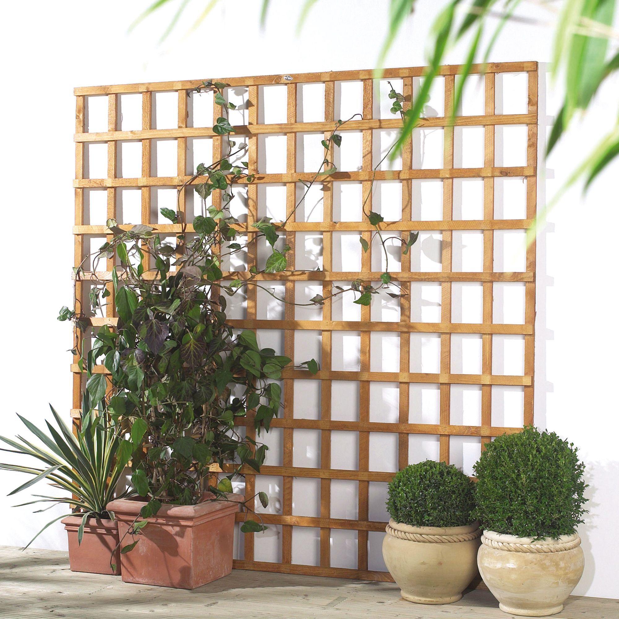 Traditional Timber Square Trellis Panel (h)1.83m(w)0.6 M