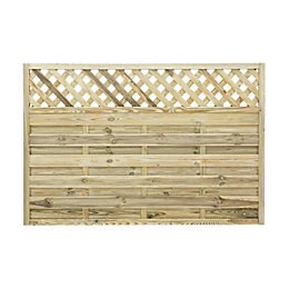 Ledbury Continental Lattice Top Fence Panel (W)1.8m (H)1.2m,