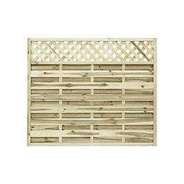 Ledbury Continental Lattice Top Fence Panel (W)1.8m (H)1.5m,