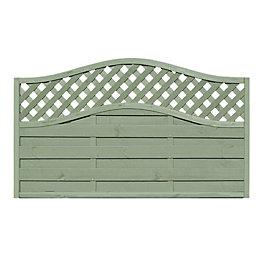 Woodbury Lattice Top Fence Panel (W)1.8m (H)1.05m, Pack