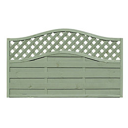 Woodbury Lattice Top Fence Panel (W)1.8m (H)1.05m, Pack