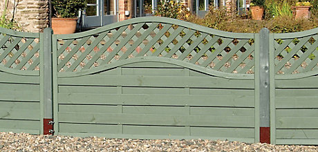 image of garden fencing