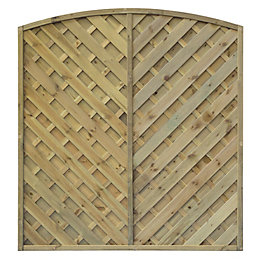 St Lunair Arched Fence Panel (W)1.8m (H)1.8m, Pack