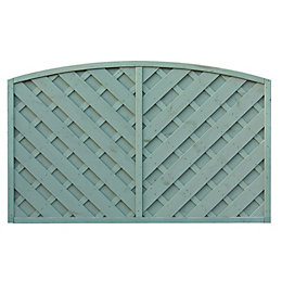 St Lunair Arched Fence Panel (W)1.8m (H)1.2m, Pack