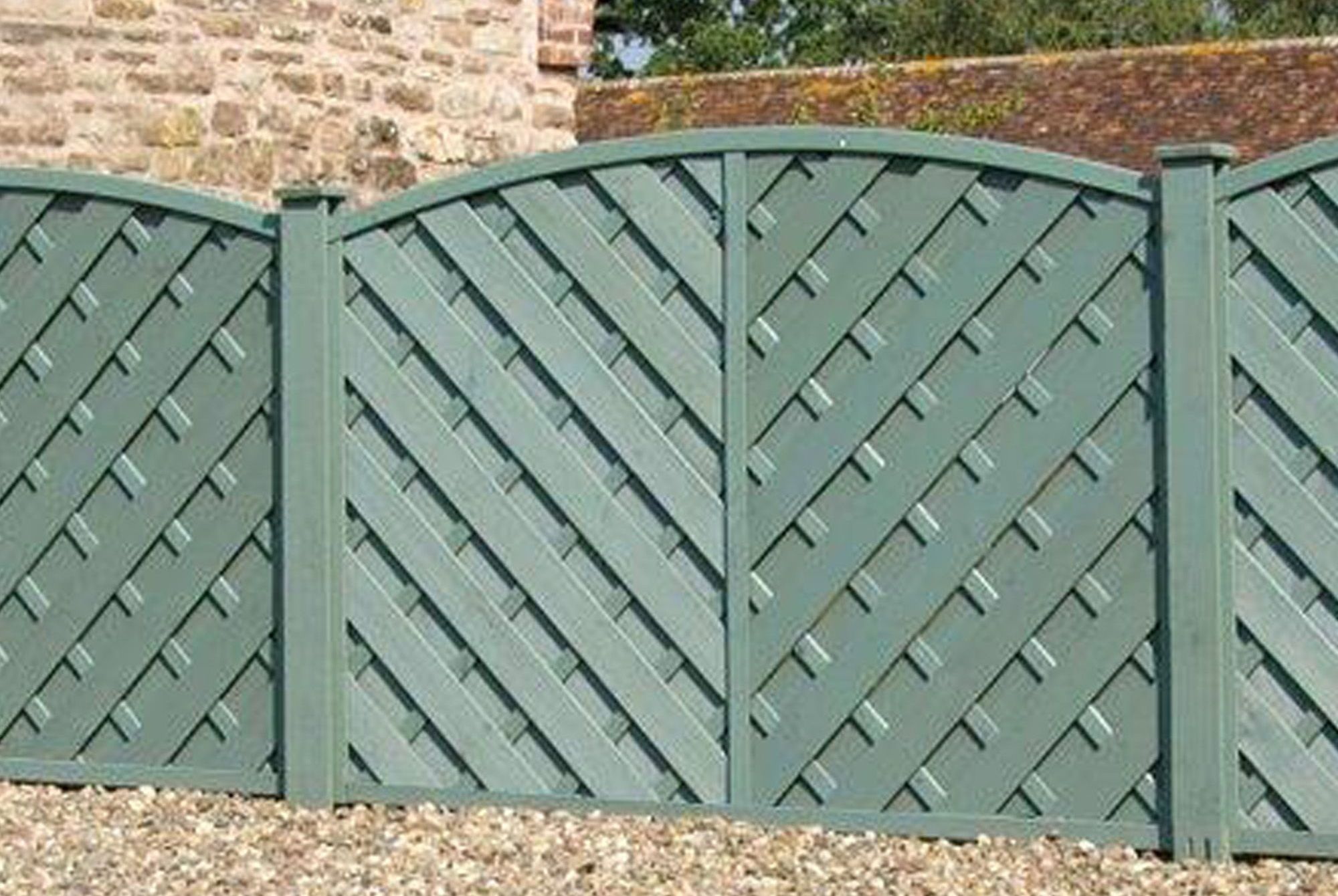 St Lunair arched fence panel