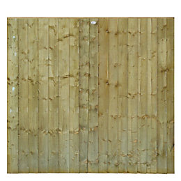 Professional Feather Edge Overlap Fence Panel (W)1.83m (H)1.8m,