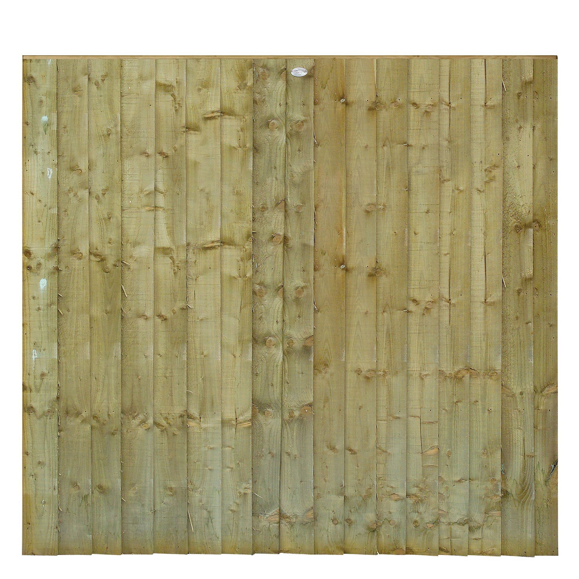 Grange Professional Feather Edge Overlap Vertical Slat Fence Panel (w)1.83 M (h)1.8m, Pack Of 5