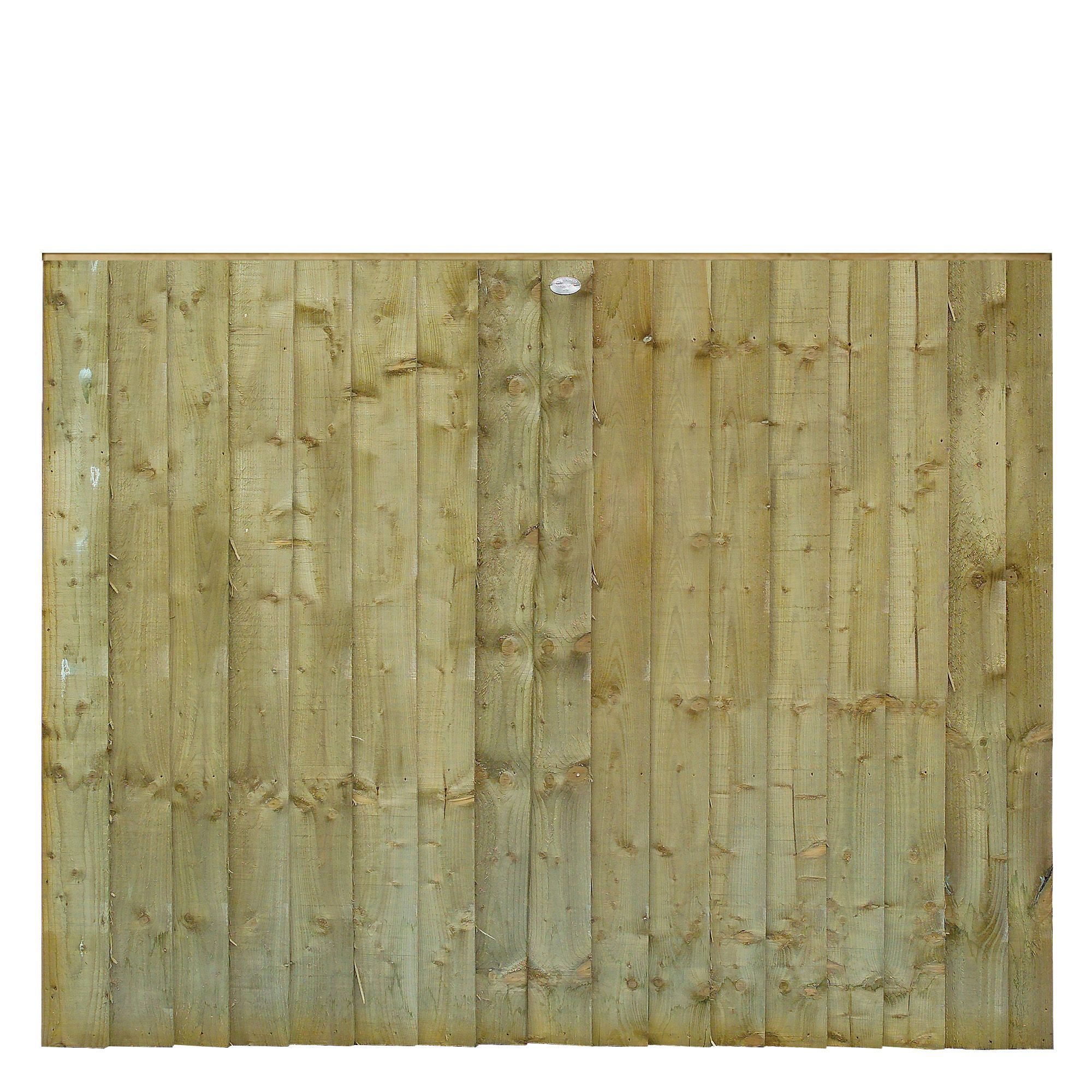Grange Professional Feather Edge Overlap Vertical Slat Fence Panel (w)1.83 M (h)1.5m, Pack Of 5