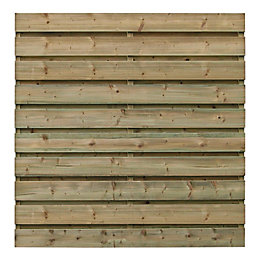 Rodez Slatted Fence Panel (W)1.8m (H)1.8m, Pack of