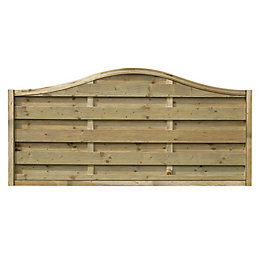 Woodbury Slatted Fence Panel (W)1.8m (H)900mm, Pack of