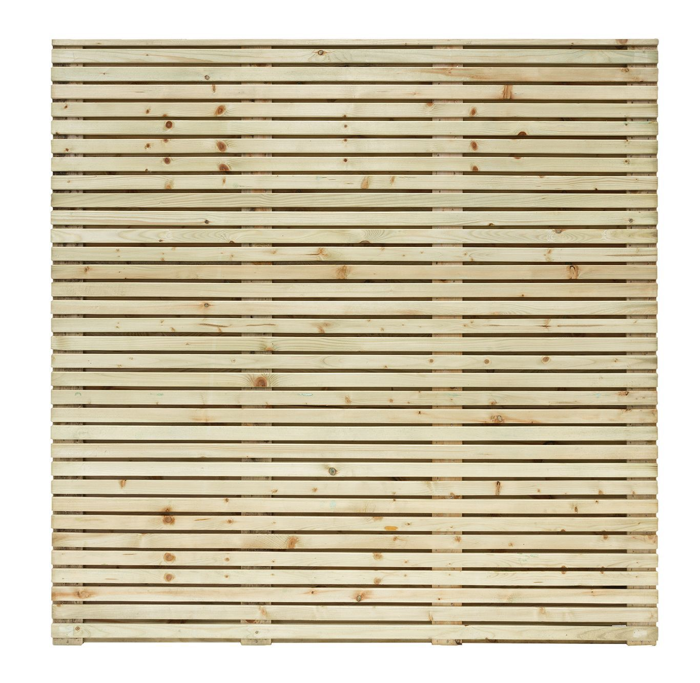 Grange Contemporary Horizontal Slat Fence Panel (w)1.79 M (h)1.79m, Pack Of 5