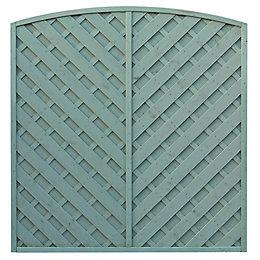 St Lunair Arched Fence Panel (W)1.8m (H)1.8m, Pack