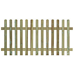 Traditional Round Top Picket Fence (W)1.8m (H)1.2m, Pack
