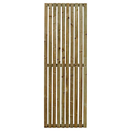 Linear Timber Garden Screen (H)1.8m (W)600mm