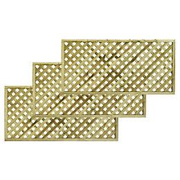 Woodbury Timber Square Trellis Panel (H)1.8m (W)900mm