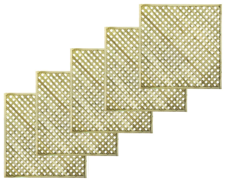 Woodbury Timber Square Trellis Panel (h)1.8m(w)1.8 M, Pack Of 5