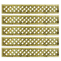 Woodbury Timber Square Trellis Panel (H)1.8m (W)300mm