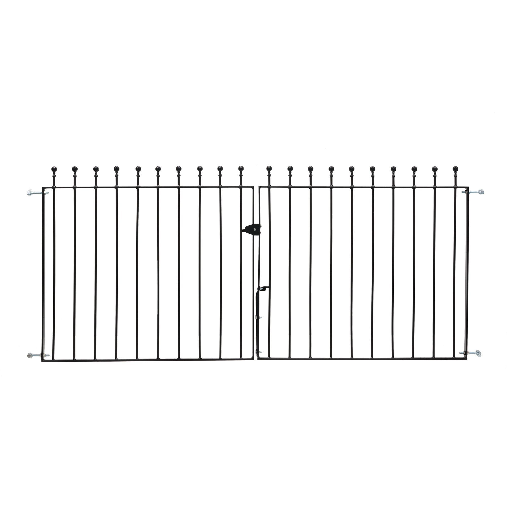 Metpost Metal Ball Top Gate (h)0.9m (w)1.95 M