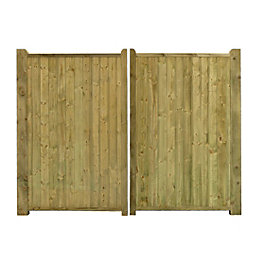 Grange Planed Timber Driveway Gate (H)1800mm (W)3000mm