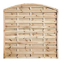 Elite Domed Top Fence Panel (W)1800mm (H)1800mm, Pack