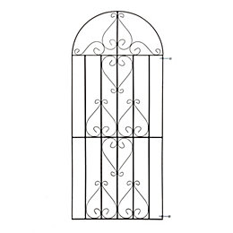 Metpost Metal Scroll Top Gate (H)1840mm (W)810mm
